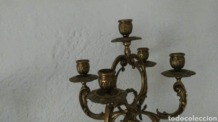 Antigüedades: Candelabro bronce - Foto 5 - 80629178