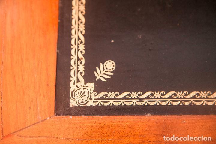 Antigüedades: Antiguo Escritorio Abatan - Secreter - Imperio - Francia - Madera sobre de Mármol - S. XIX - Foto 4 - 80629606