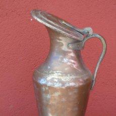 Antigüedades: ANTIGUA Y GRAN JARRA DE COBRE CON TAPADERA. 37CM. Lote 80634866