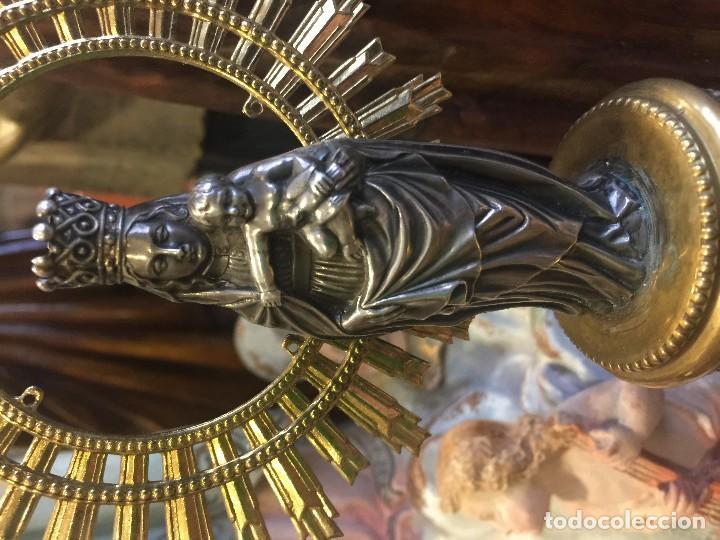 Antigüedades: virgen del pilar en plata - Foto 3 - 80636238
