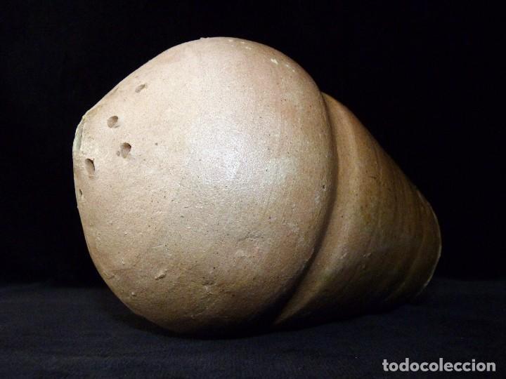 Antigüedades: MUY RARO Y ANTIGUO INCENSARIO DE CERÁMICA VIDRIADA. VALENCIA SIGLO XVIII. 16x10,5 cm. - Foto 2 - 80643390