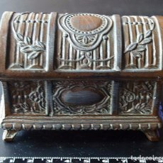 Antigüedades: COFRE O CAJA ANTIGUA DE METAL. Lote 80686578