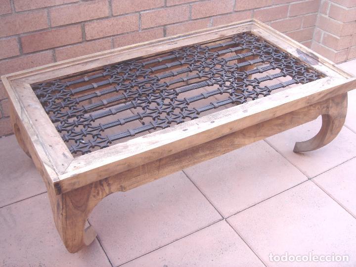 Espectacular mesa de centro madera mobila vie comprar - Herrajes de forja ...