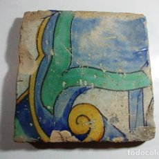 Antigüedades: ANTIGUO AZULEJO DEL XVII VALENCIANO . Lote 80712790