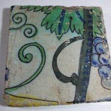 Antigüedades: ANTIGUO AZULEJO DEL XVII VALENCIANO. Lote 80715034