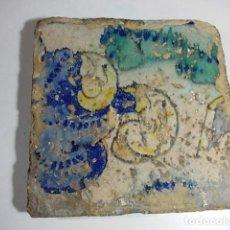 Antigüedades: ANTIGUO AZULEJO VALENCIANO DEL XVII. Lote 80715334