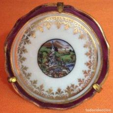 Antigüedades: PLATO EN MINIATURA PORCELANA DE LIMOGES. Lote 80716658