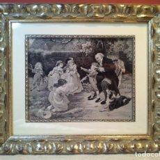 Antigüedades: HERMOSO TAPIZ MINIATURA 1900 VICTORIANO O ESTILO ART NOUVEAU FRANCÉS TAPICERIA NEYRET FRERES. Lote 80724290