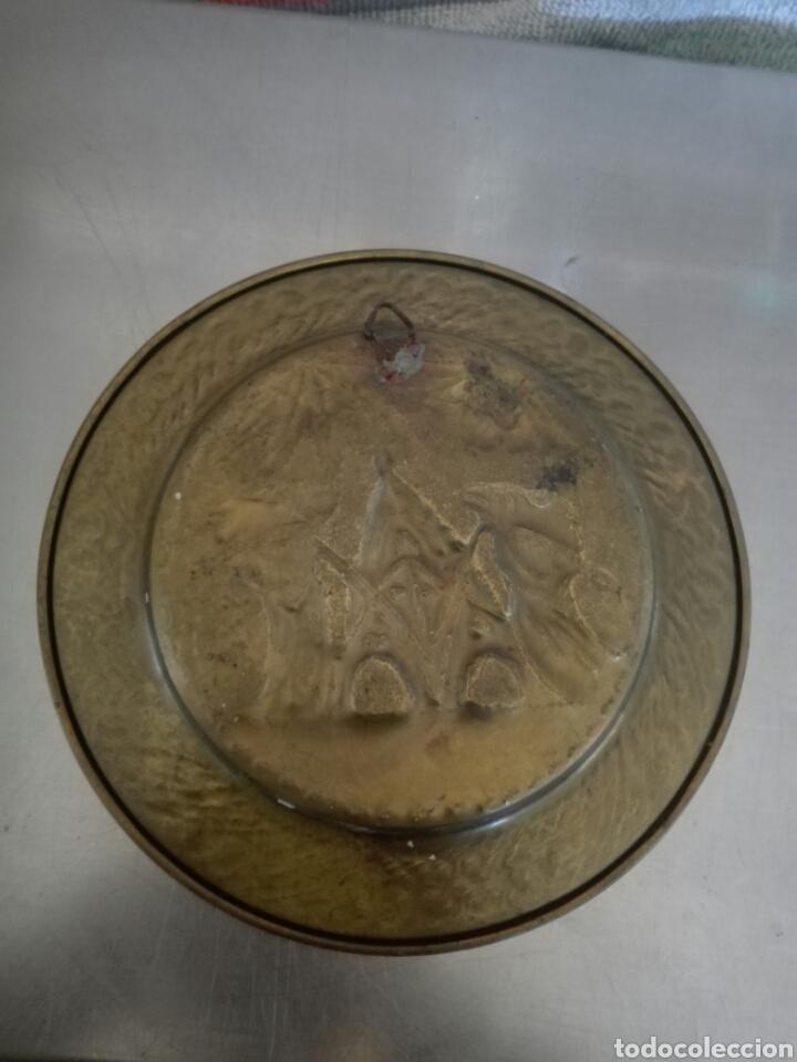 Antigüedades: Plato laton colgar - Foto 2 - 80738734