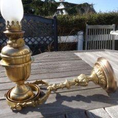 Antigüedades: IMPRESIONANTE LAMPARA NAUTICA QUINQUE NAUTICO LATÓN BARCO CARDAN FINALES XVIII MUSEO .530 EUROS. Lote 80742966