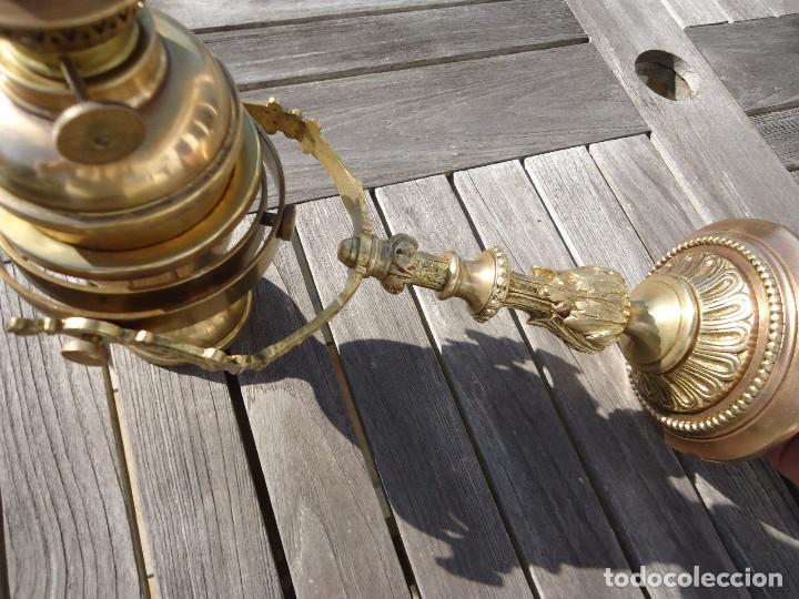 Antigüedades: IMPRESIONANTE LAMPARA NAUTICA QUINQUE NAUTICO LATÓN BARCO CARDAN FINALES XVIII MUSEO .530 EUROS - Foto 2 - 80742966