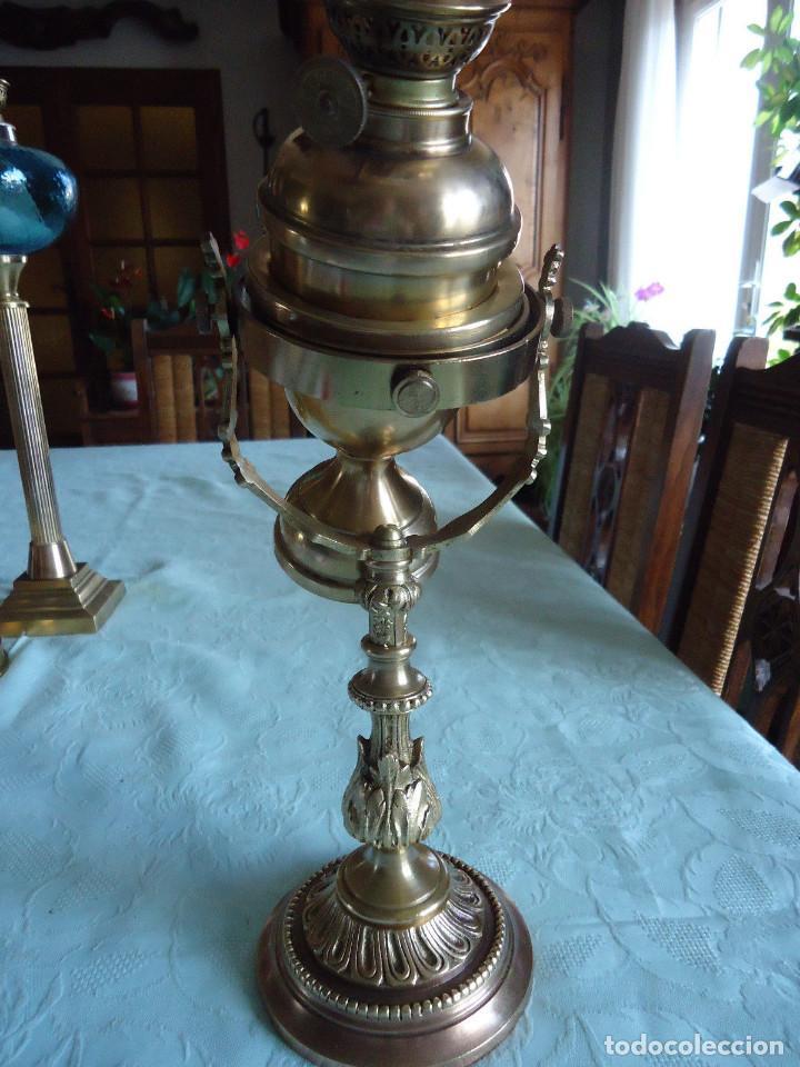Antigüedades: IMPRESIONANTE LAMPARA NAUTICA QUINQUE NAUTICO LATÓN BARCO CARDAN FINALES XVIII MUSEO .530 EUROS - Foto 4 - 80742966