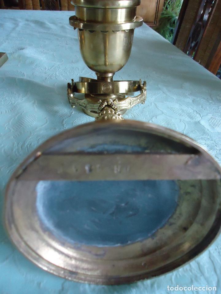 Antigüedades: IMPRESIONANTE LAMPARA NAUTICA QUINQUE NAUTICO LATÓN BARCO CARDAN FINALES XVIII MUSEO .530 EUROS - Foto 6 - 80742966