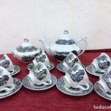 Antigüedades: JUEGO ANTIGUO DE CAFE SELLADO PICKMAN LA CARTUJA. Lote 80747870