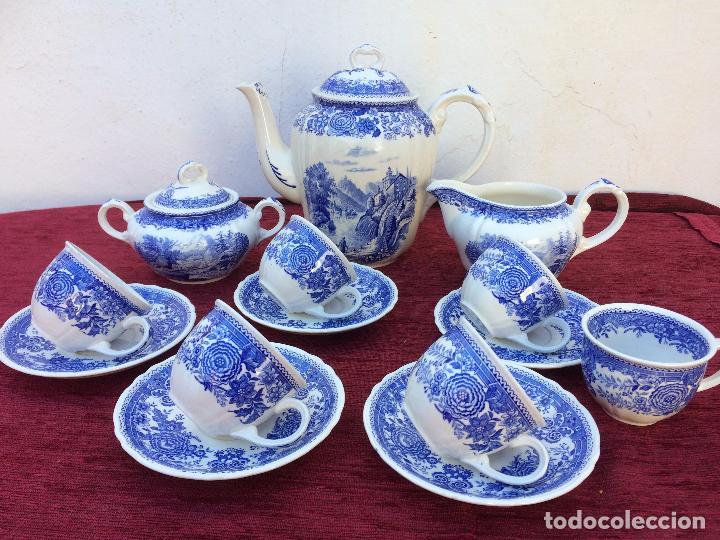 Antigüedades: JUEGO ANTIGUO DE CAFE SELLADO VILLEROY&BOCH - Foto 2 - 80757850