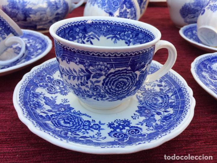 Antigüedades: JUEGO ANTIGUO DE CAFE SELLADO VILLEROY&BOCH - Foto 5 - 80757850