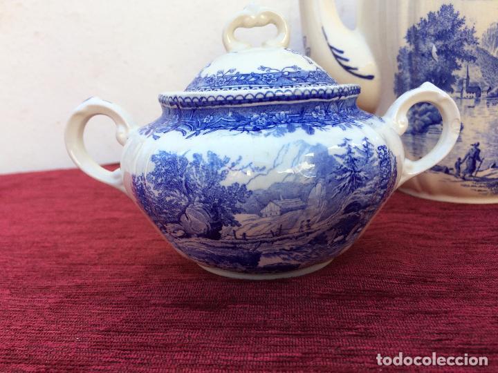 Antigüedades: JUEGO ANTIGUO DE CAFE SELLADO VILLEROY&BOCH - Foto 9 - 80757850