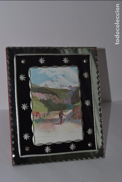 precioso marco de cristal tallado - años 20-30 - Comprar Marcos ...