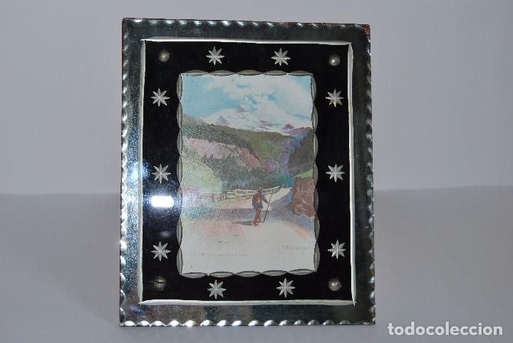 Antigüedades: PRECIOSO MARCO DE CRISTAL TALLADO - AÑOS 20-30 - ART DÉCO - Foto 2 - 80765294