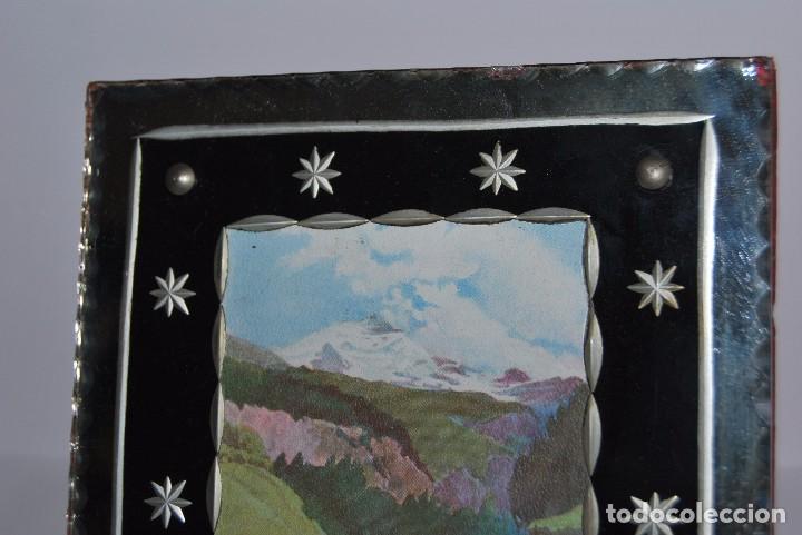 Antigüedades: PRECIOSO MARCO DE CRISTAL TALLADO - AÑOS 20-30 - ART DÉCO - Foto 3 - 80765294