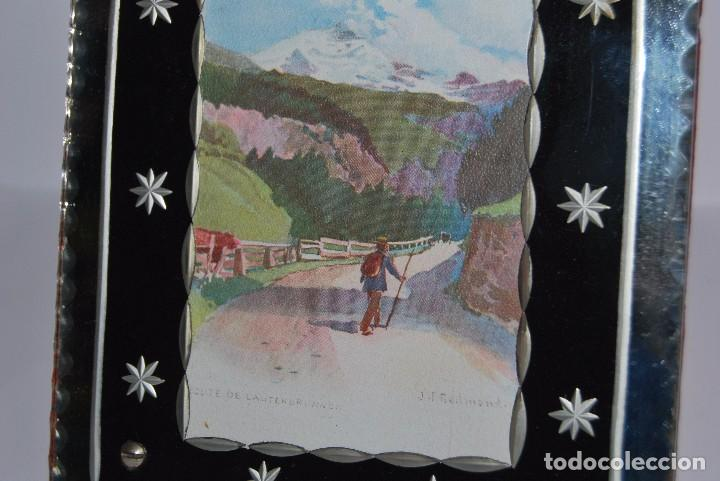 Antigüedades: PRECIOSO MARCO DE CRISTAL TALLADO - AÑOS 20-30 - ART DÉCO - Foto 4 - 80765294