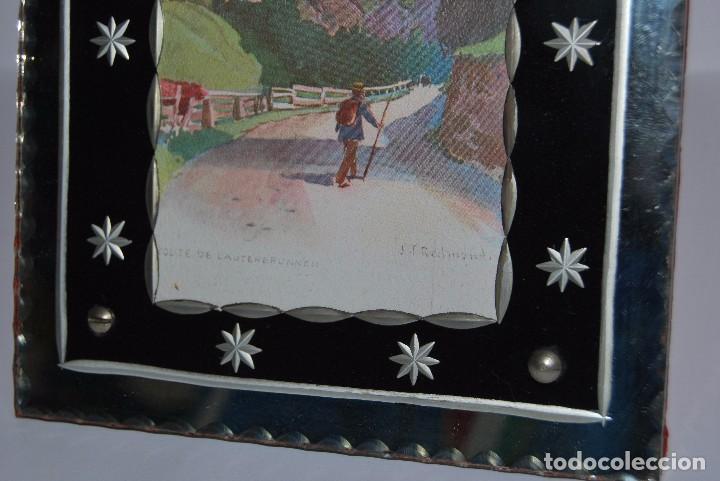Antigüedades: PRECIOSO MARCO DE CRISTAL TALLADO - AÑOS 20-30 - ART DÉCO - Foto 5 - 80765294