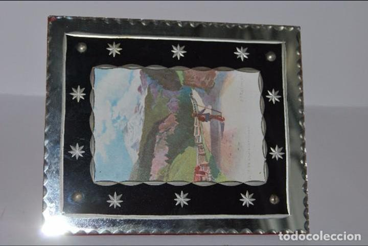 Antigüedades: PRECIOSO MARCO DE CRISTAL TALLADO - AÑOS 20-30 - ART DÉCO - Foto 9 - 80765294
