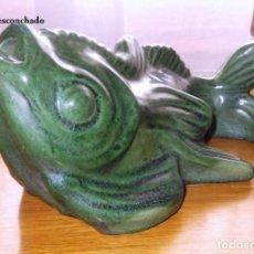 Antigüedades: FIGURA DE PEZ PARA FUENTE DE JARDIN. Lote 80771398
