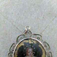 Antigüedades - ANTIGUO RELICARIO SIGLO XVII DE PLATA - 80780706