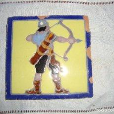 Antigüedades: AZULEJO HERALDICO RAMOS REJANO. Lote 80784114