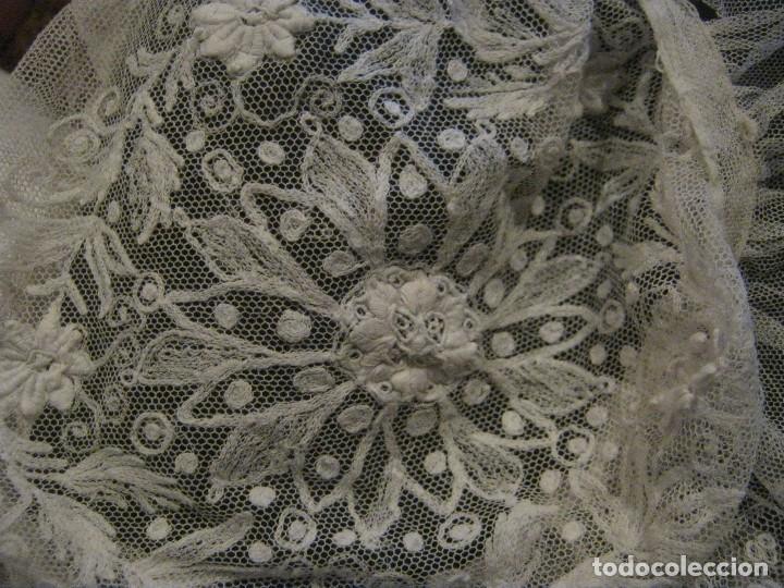 Antigüedades: ANTIGUO GORRO DE ENCAJE S. XIX - Foto 2 - 80784250