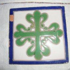Antigüedades: AZULEJO HERALDICO RAMOS REJANO. Lote 80784450