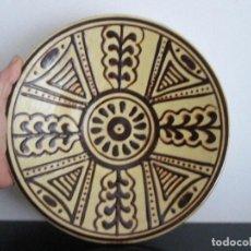 Antigüedades: PLATO DECORADO 28 CENTIMETROS DE DIAMETRO. Lote 80792519