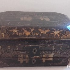 Antigüedades: CAJA NECESER CHINA LACADA SIGLO 19. Lote 80813647