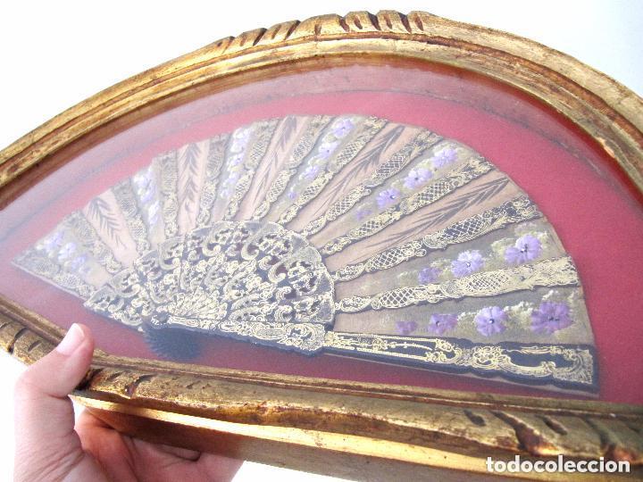 Antigüedades: PRECIOSA Y ANTIGUA ABANIQUERA Y ABANICO MADERA PAN DE ORO 197,00 € - Foto 3 - 80814559