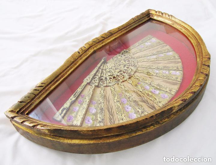 Antigüedades: PRECIOSA Y ANTIGUA ABANIQUERA Y ABANICO MADERA PAN DE ORO 197,00 € - Foto 9 - 80814559
