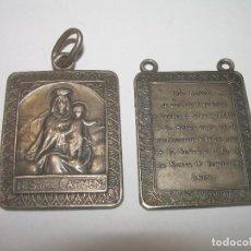 Antigüedades: DOS ANTIGUAS MEDALLAS DE PLATA.. Lote 80829043