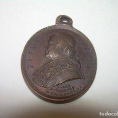 Antigüedades: ANTIGUA MEDALLA DE BRONCE....PIO IX....1.865. Lote 80830459