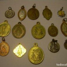 Antigüedades: ANTIGUA MEDALLAS...TOTAL..15 UNIDADES.. Lote 80832407