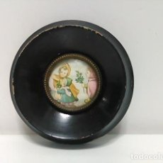 Antigüedades: MARCO CUADRO MINIATURA MADERA. Lote 80845491