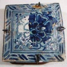 Antigüedades: ANTIGUO AZULEJO VALENCIANO GOTICO XVI-XVII. Lote 80860291