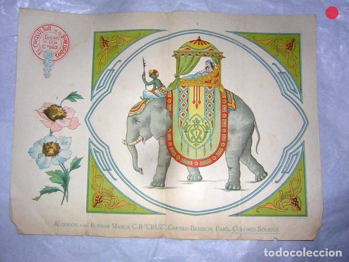 EL CONSULTOR DE LOS BORDADOS LUJO, LAMINA Nº 553 (Antigüedades - Moda - Bordados)
