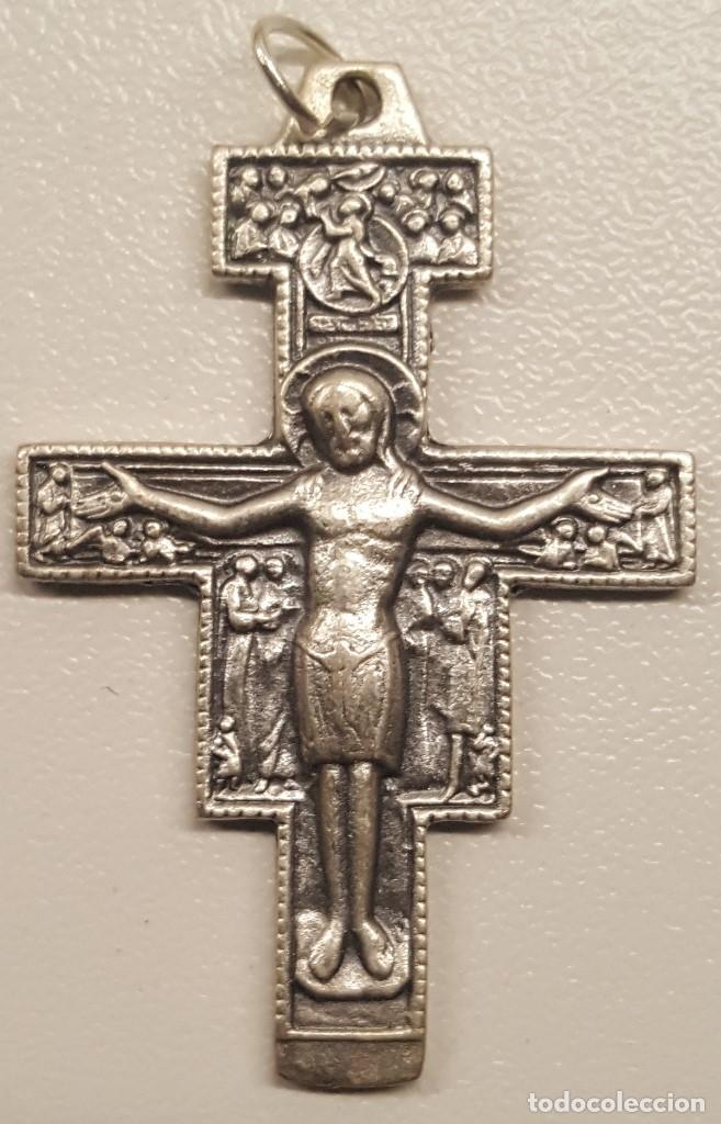 822b1303c68 CRUCIFIJO CRISTO PLATA SAN DAMIAN VER DETALLES CRUZ (Antigüedades -  Religiosas - Crucifijos Antiguos)