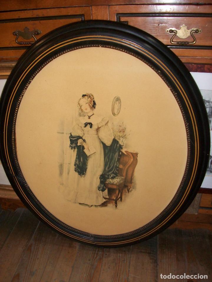 antiguo marco ovalado-figura de mujer - Comprar Marcos Antiguos de ...