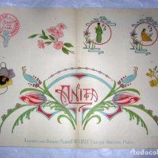 Antigüedades: EL CONSULTOR DE LOS BORDADOS LUJO, LAMINA Nº 461. Lote 80869735