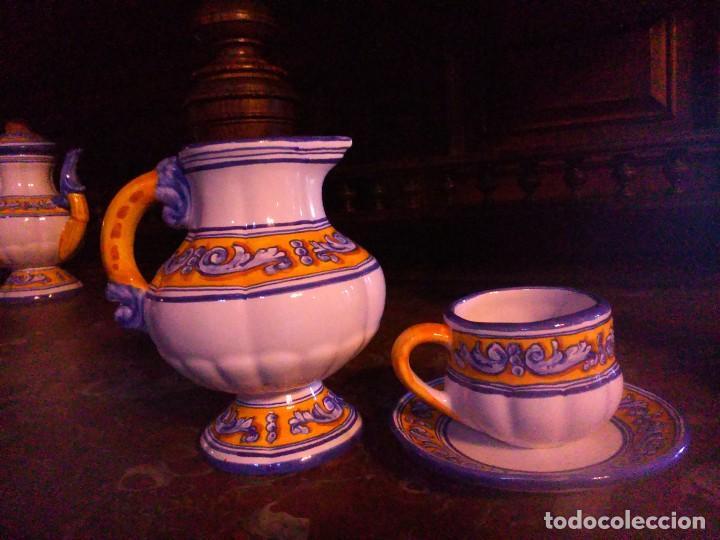 Antigüedades: Juego de cafe Talavera - Foto 3 - 80887123
