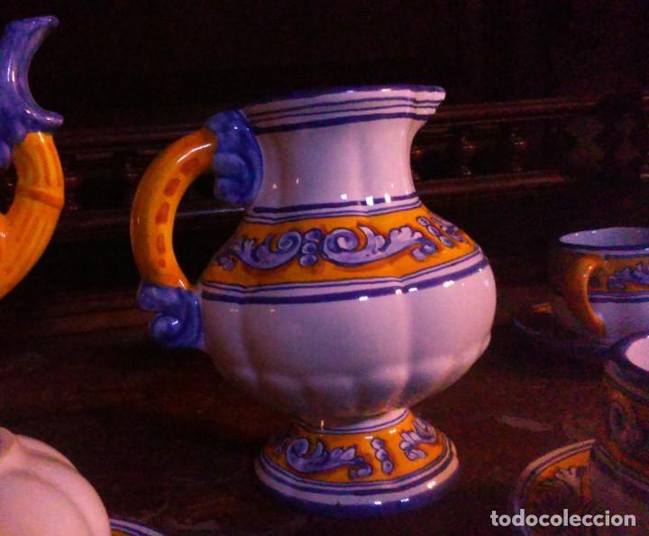 Antigüedades: Juego de cafe Talavera - Foto 4 - 80887123