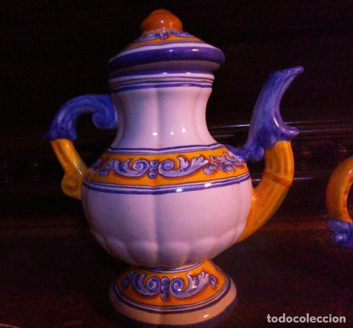 Antigüedades: Juego de cafe Talavera - Foto 5 - 80887123