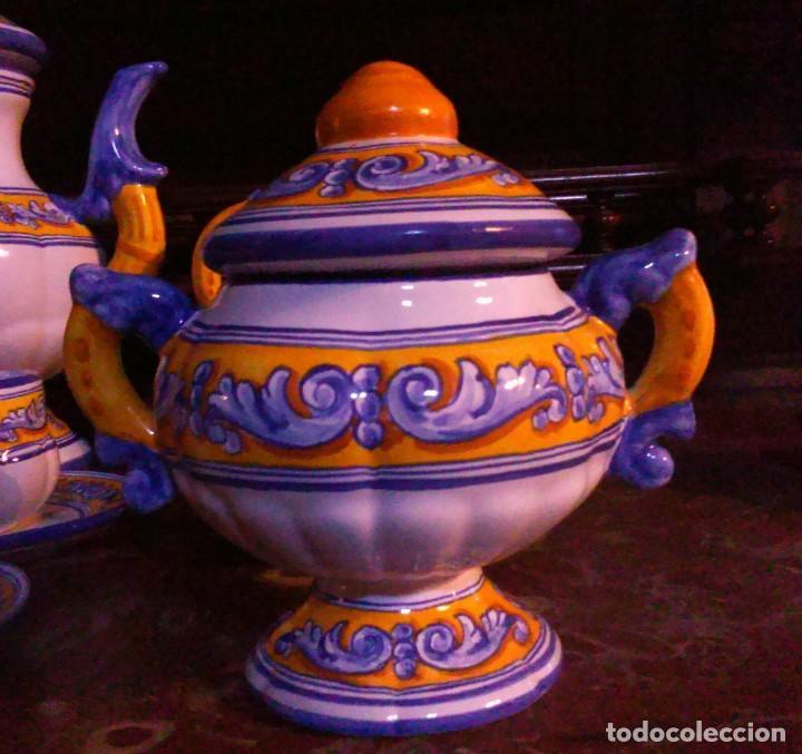 Antigüedades: Juego de cafe Talavera - Foto 6 - 80887123