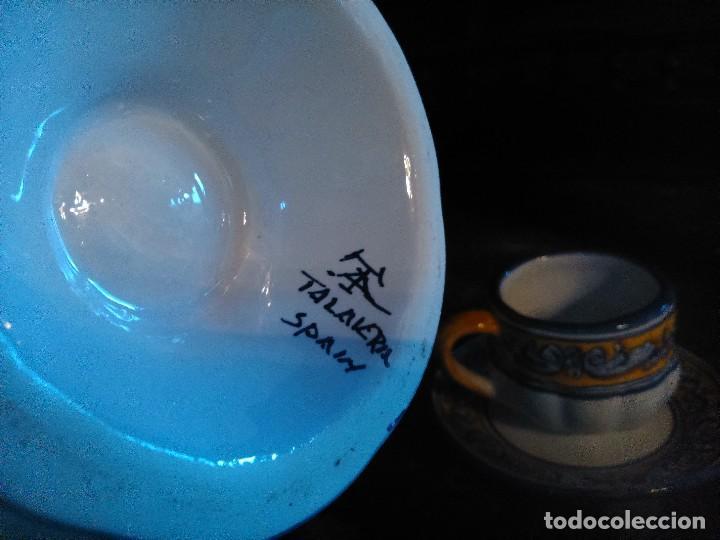 Antigüedades: Juego de cafe Talavera - Foto 7 - 80887123